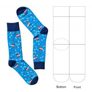Unisex Combed Crew Socks